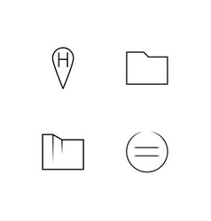 Essential linear icons set simple outline icons vector
