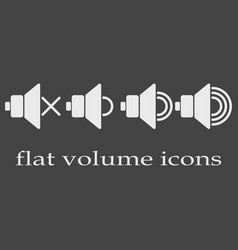 flat volume icons vector image