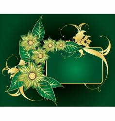 frame with gold vector image