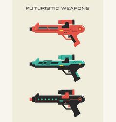 Futuristic weapon vector