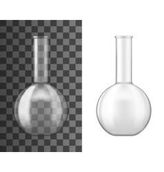 Glass flask or beaker chemical laboratory vector