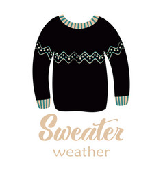 Greeting card with sweater vector