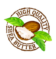grunge rubber stamp high quality shea vector image