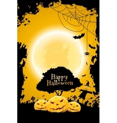 Halloween Background with Pumpkin and Scarecrow vector image vector image