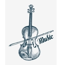 Hand drawn violin Sketch vector image