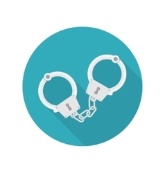 handcuffs icon vector image