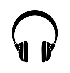 headphones music sound device pictogram vector image