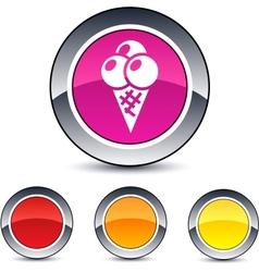 icecream round button vector image