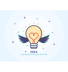 Idea Icon with a Lightbulb vector
