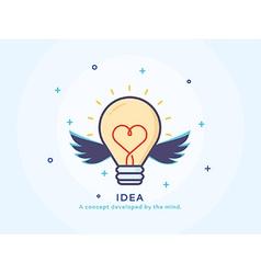 Idea icon with a lightbulb vector