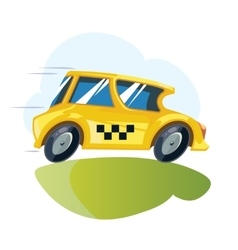 Illustration yellow taxi car vector