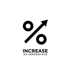 increase percentage graphic design template vector image