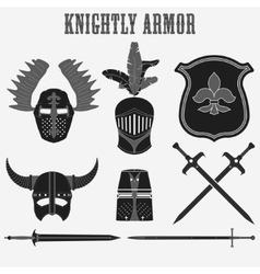 Knightly armor vector