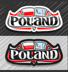 logo for poland vector image