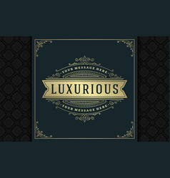 luxury logo template golden vintage vector image