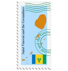 Mail to-from Saint Vincent and Grenadines vector