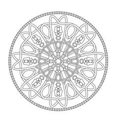 Mandala coloring page interlaced and abstract vector