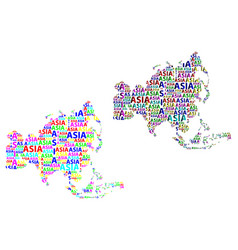map of continent asia vector image