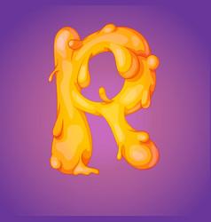 melted slicky letter vector image