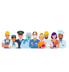 men and women of different professions vector image