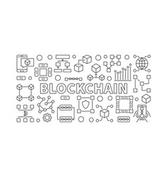 Modern technology banner made with block chain vector
