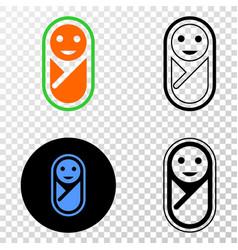 New born eps icon with contour version vector