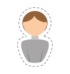people man nerd icon image vector image