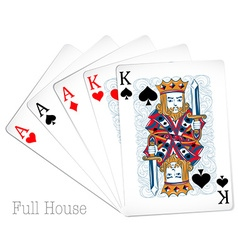 Poker cards full house vector image