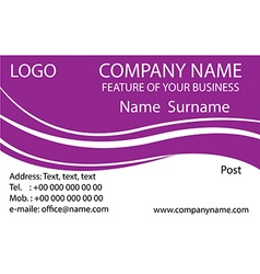 Purple business cards background vector