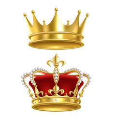 Real royal crown imperial gold luxury monarchy vector