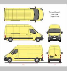 Renault master cargo van l3h3 fwd 2014-2019 vector