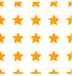seamless pattern with yellow star vector image