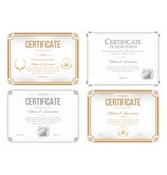 set certificates appreciation award vector image