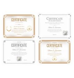 Set of certificates of appreciation award vector