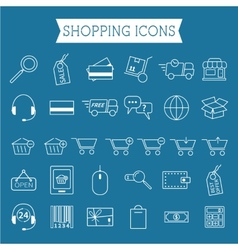 Set of On-Line Shopping icons Outline Can be use vector image