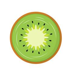 slice kiwi isolated on white background vector image