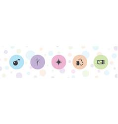 Spark icons vector