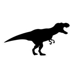 T-rex tyrannosaurus silhouette vector