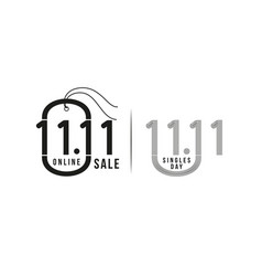 tag 1111 sale 1111 online sale singles day vector image