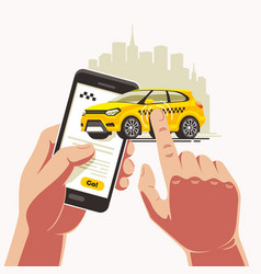 taxi order smartphone application vector image