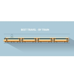 Train with long shadows vector