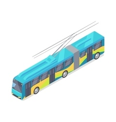 Trolleybus Icon in Isometric Projection vector