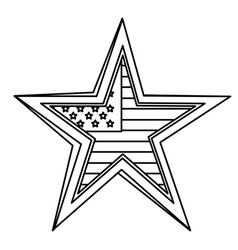 United statae of america flag with star shape vector