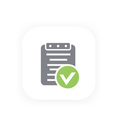 valid document icon approved report contract vector image