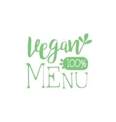 Vegan calligraphic cafe board vector