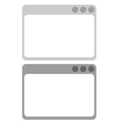 web window icon vector image