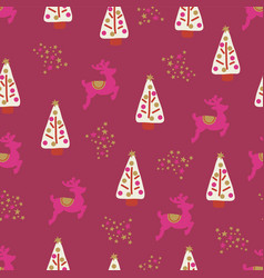 women christmas holiday seamless background vector image