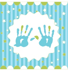 handprint of boy vector image vector image