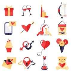 Love symbols set vector image