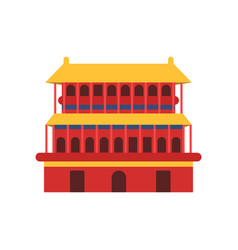 ancient chinese architecture icon of pagoda vector image vector image